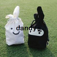 Wholesale Ninja Pouch Bag - Free Shipping Wholesale White Balck Ninja Rabbit Travel Pouch For Lunch Fold Storage Bag pen bags Cosmetics pouch 10pcs lot, dandys