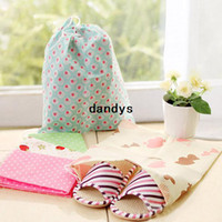 Wholesale Printed thick drawstring travel pouch woven shoe pouch Storage Bags dandys