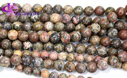 "Wholesale Bracelet Animal Leopard - Discount Wholesale Natural Genuine Leopard Skin Jasper Round Loose Stone Beads 3-18mm Fit Jewelry DIY Necklaces or Bracelets 16"" 03455"