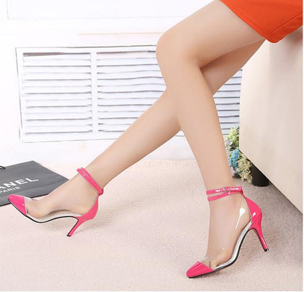 Zapatos De Tacon Alto Transparentes