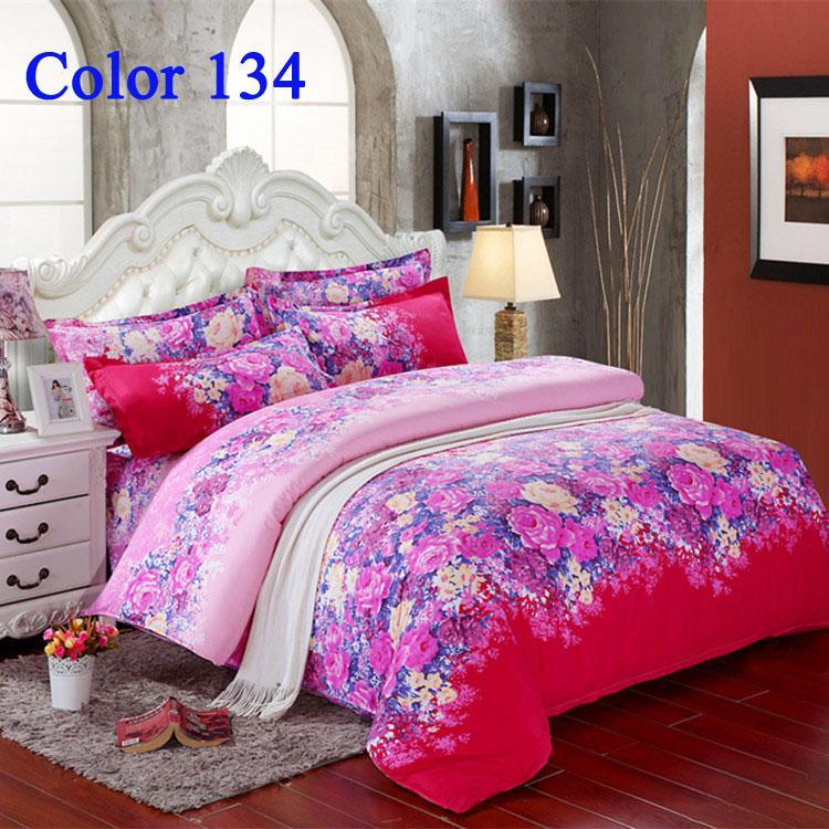 home textiles fashion bedding set duvet cover bed sheet pink