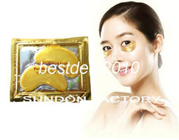 $enCountryForm.capitalKeyWord Canada - Fedex Free shipping Wholesale Crystal Collagen Gold Powder Gel Eye Mask - Facial Pads for Dark Circles, Bags, Wrinkles