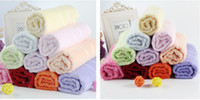 Wholesale Disposable Hair Towels - Bamboo Fibre Soft Towel Washcloth 34x76cm