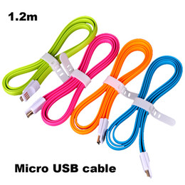 Wholesale Iphone Charger Flat Cable - Micro USB Charger Cable Effecient & Neat Magnet Flat Noodle Cord Magnetic For I7 Andriod Samsung Galaxy S7 S6 Xiaomi HTC etc