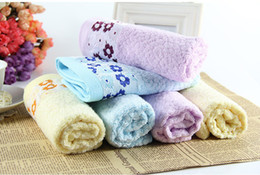 Wholesale Disposable Hair Towels - Flower Bamboo Fibre Soft Waffle Towel 34x76cm