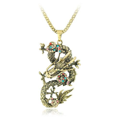 Wholesale black snow dragon necklace jewelry chinese zodiac dragon see larger image aloadofball Image collections