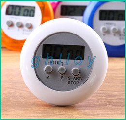 Wholesale Digital Alarm Stop Watch - Digital LCD Timer stop Watch Clock Alarm Kitchen Cooking Countdown different color