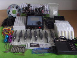 Wholesale Rotary Machine Grip - Complete Tattoo Kit 2 Pro Rotary Machine Guns 40 Inks Power Supply Needle Grips