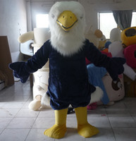 Wholesale Eagles Mascot Costume - with one mini fan inside the head mb007 eagle mascot costume for adults to wear for fun