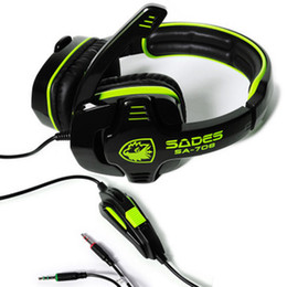 Wholesale High Quality Professional Gaming Headphones - High quality WCG Recommended Professional gaming headphones computer voice headset With Microphone SA-708 for CF PC gaming free shipping