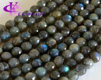 "Wholesale Blue Stone Beads Necklace - Discount Wholesale Natural Genuine Blue Labradorite Faceted Round Loose Stone Beads 3-18mm DIY Necklaces or Bracelets 15.5"" 02814"