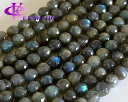 """Wholesale Labradorite Rounds - Discount Wholesale Natural Genuine Blue Labradorite Faceted Round Loose Stone Beads 3-18mm DIY Necklaces or Bracelets 15.5"""" 02814"""