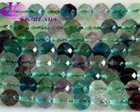 """Wholesale Aa Circle - Discount Wholesale Natural Genuine AA Grade Rainbow Fluorite Faceted Round Loose Stone Beads 3-18mm DIY Necklaces or Bracelets 15.5"""" 02813"""