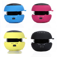 Wholesale Mini Speakers For Iphone Hamburger - New arrival Portable pocket Mini Hamburger Speaker for iPhone iPad iPod Laptop PC MP3 Audio Amplifier Wholesale V507