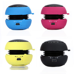 Wholesale Hamburger Speaker Wholesale - New arrival Portable pocket Mini Hamburger Speaker for iPhone iPad iPod Laptop PC MP3 Audio Amplifier Wholesale V507