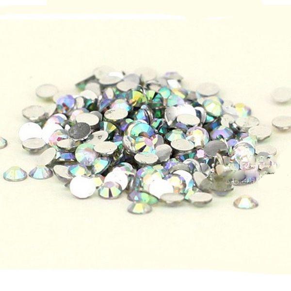 top popular 1000 pcs Flat Back 3mm Acrylic ab rhinestones Crystal Wholesale for Nail Art Free Shipping 2019