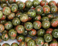 """Wholesale Food Discount - Discount Wholesale Natural Green Pink Unakite Round Loose Stone Beads 3-18mm Fit Jewelry DIY Necklaces or Bracelets 15.5"""" 03453"""