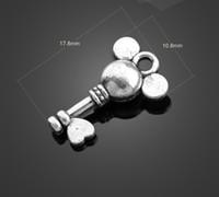 Wholesale Key Jewelry Components - Sale! 13552 vintga Mickey key Charms Necklace Pendants earrings Pendants DIY Charms Jewelry Findings & Components