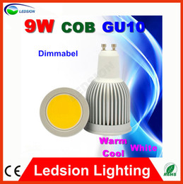 10PCS Hot Sell in Europe Dimmable COB 9W GU10 Led Spot Light Bulb 800LM Cool White Downlight 85-265V Lower Heat , Epistar Chip, 120Degrees from sells led chips manufacturers