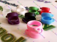 Wholesale Kanger Evod Lanyards - Ego Lanyard Necklace String Neck Chain Soft Rubber Ring for Kanger Evod Mt3 Starter Kit Electronic Cigarette Various Colors