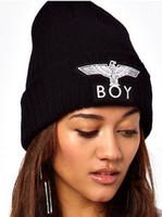 Wholesale London Boy Beanie - Hiphop BIGBANG BOY LONDON GD G-DRAGON Embroidered Men Women Girls Skull Beanie Hat Winter warm Ski Cap
