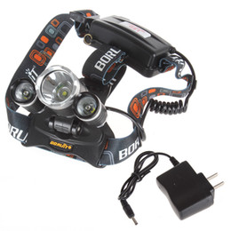 Wholesale Led Bike Cree 3x - 10pcs 5000LM JR-3000 3X CREE XML T6 LED Headlamp Headlight 4 Mode Head Lamp + AC Charger for bicycle bike light free shipping+3year warry