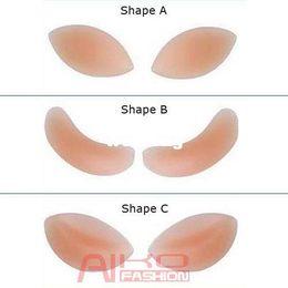 Wholesale Silicone Breasts Pads - 1pair (2pcs pair) Freebra Silicone Nu Bra Inserts Push Up Breast Pad Bikini Enhancer (A B C) 3 Style Free Shipping