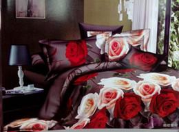 3d Bedding Set White Rose Australia - ywxuege New Arrival 3D Beautiful Red Rose Floral Bedding sets Duvet Quilt Cover Bed sheet 4pcs set bed in a bag Bedlinen Bed Clothes