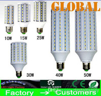 Wholesale E14 Led 25w - 2X LED Corn Bulb Lamp 5630 SMD Cool White warm White Indoor lighting 360 Angle Maize LED Light 10w 15w 25w 30w 40w 50w Bulbs E27 B22 E14