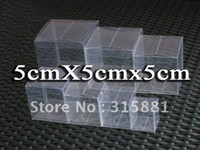 Wholesale Cheap Candy Gifts - 5x5x5 cm Cheap PVC Clear Packaging Gift Box Fruit Cosmetics Candy Box Cake Container Free Shipping