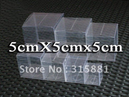 Wholesale Cheap Cosmetic Boxes - 5x5x5 cm Cheap PVC Clear Packaging Gift Box Fruit Cosmetics Candy Box Cake Container Free Shipping