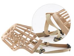 $enCountryForm.capitalKeyWord NZ - Pet Supplies Plastic Dog Basket Muzzle Breathable Guardian Gear Adjustable Mask Cage Mouth Cage Bark Stop 3035#