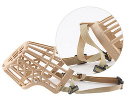 Wholesale Basket Dog Muzzles - Pet Supplies Plastic Dog Basket Muzzle Breathable Guardian Gear Adjustable Mask Cage Mouth Cage Bark Stop 3035#
