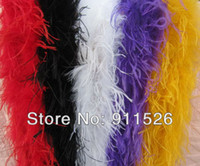 """Wholesale Wholesale Ostrich Feathers Boas - free shipping 5Pcs lot 200cm(79"""") ostrich Feather Strip Weddingor party Marabou Feather Boa 5 Color selected"""
