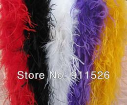 "Wholesale Wholesale Ostrich Boas - free shipping 5Pcs lot 200cm(79"") ostrich Feather Strip Weddingor party Marabou Feather Boa 5 Color selected"