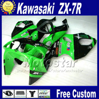Wholesale zx 7r - Full fairing kit for KAWASAKI Ninja 1996 - 2003 ZX7R fairings green black ZX 7R 96 97 98 99 00 01 02 03