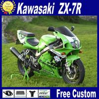 Wholesale 96 Kawasaki Ninja - Motorcycle fairings for 1996 - 2003 ZX 7R KAWASAKI Ninja ZX-7R ZX7R 96-01 02 03 green black bodywork fairing kits with 7 gifts WT24
