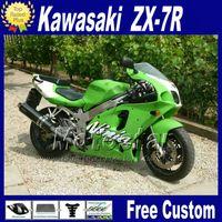 1997 ninja zx7r venda por atacado-Kit de carenagem de plástico para KAWASAKI Ninja ZX-7R 1996 - 2003 kit de carenagem de cor verde preto 96-01 02 03 ZX7R ZX 7R com 7 compartimentos