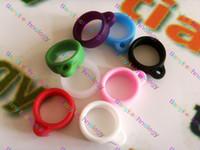 Wholesale Kanger Evod Lanyards - Ego Lanyard Necklace String Neck Chain Soft Rubber Ring for Kanger Evod VV TWIST Evod MT3 Electronic Cigarette Various Colors