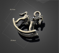 Wholesale Horse Rocking Charms - Sale! 13307 vintga Small rocking horse Charms Necklace Pendants earrings Pendants DIY Charms Jewelry Findings & Components