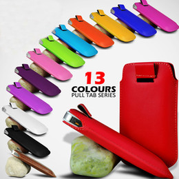 Wholesale Pouch Sleeve Galaxy S3 - HOT Selling 13 Colors PU Leather Case Pouch Sleeve with Pull Tab for Samsung Galaxy S4 S3 S5 Note3 Note2 iphone 5S 5C M7 50pcs lot