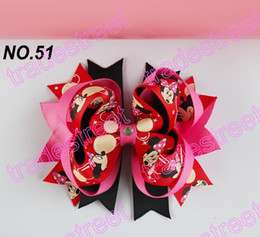 $enCountryForm.capitalKeyWord Canada - free shipping 145pcs 4.5'' two layer funky hair bows boutique hair clips popular kids hair accessories