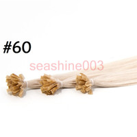 "Wholesale Deep Wave Tip - Best Hair 18""--26"" Flat Tip Nail U-Tip V-Tip Hair Extensions Color#60 l100% Brazilian Virgin Hair Silky Straight Hair 100g piece Grade AAAAA"