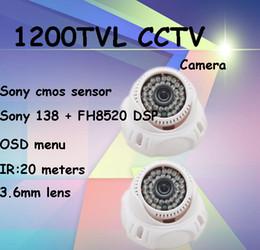 Wholesale Wholesale Self Defense Products - 2pcs lot cctv camera 1200TVL Sony CMOS video surveillance system self-defense kamera security product controle remoto