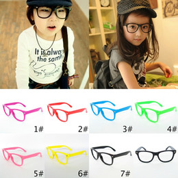 Wholesale Solid Plastic Frame - 2017 Top Selling Classical Kids Glasses Frame Children Beach Sunglasses Frame Candy Colors Frame Without Lenses 20pcs Lot