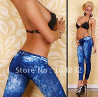 Wholesale Bootcut Jeggings - East Knitting B25 Fashions Women's Jeans Look s Seamless tattoo Jeggings printed s Free Shipping Fast Delivery