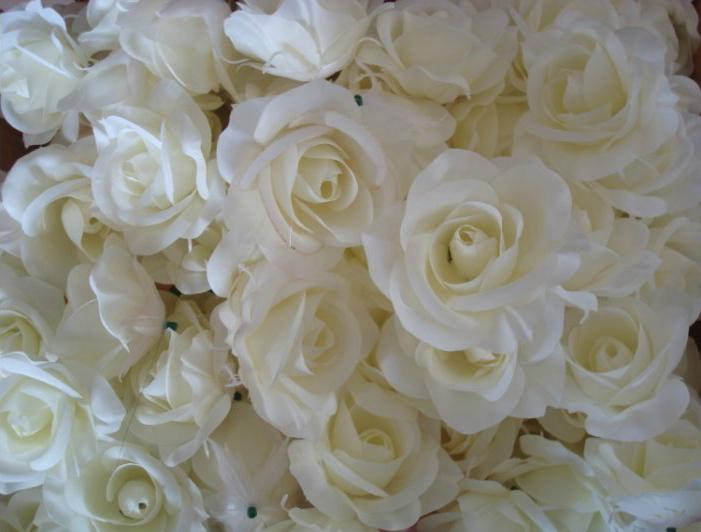 MEJOR VENDEDOR CABEZAS DE LA FLOR 100p Camellia de Seda Artificial Rosa Fake Peony Cabeza de Flor 7--8 cm para el Banquete de Boda Hogar Decorativo Flowewrs