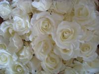 yapay şakayık çiçek başları toptan satış-EN IYI SATıCı ÇIÇEK BAŞKANLARı 100 p Yapay Ipek Kamelya Gül Sahte Şakayık Çiçek Kafa Düğün Parti Ev Dekoratif Flowewrs için 7-8 cm