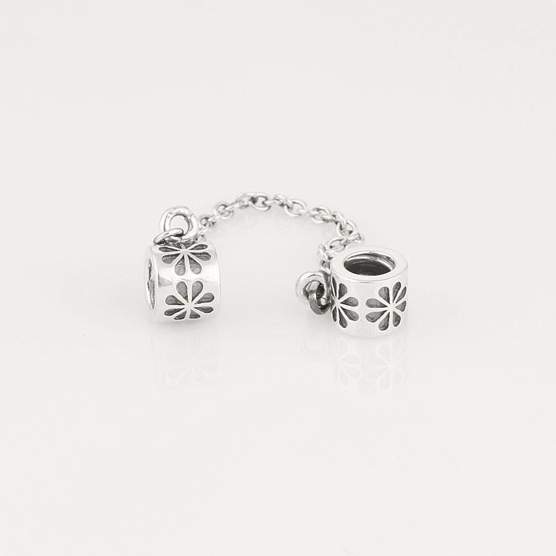 أصيلة 925 الفضة الاسترليني سحر سلسلة ديزي سحر يناسب الأوروبي باندورا المجوهرات الخرزة أساور