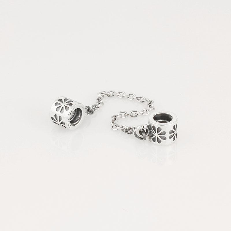 Le charme authentique de la chaîne de sécurité en argent sterling 925 convient aux bracelets de perles de bijoux Pandora européens